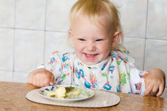 Child eating Royalty Free Stock Photography