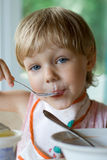 Child eating Royalty Free Stock Photo