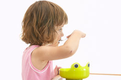 Child eating breakfast Stock Photos