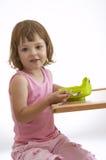 Child eating breakfast Stock Photo