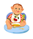 Child eating breakfast Royalty Free Stock Photography