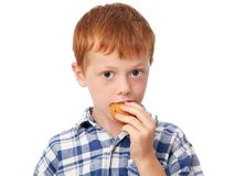 Child eating cookies Stock Images