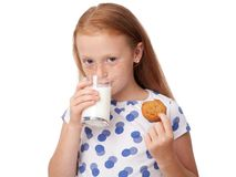 Child eating cookies Royalty Free Stock Photo