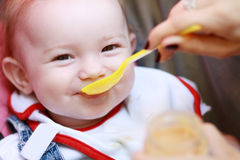 Child eating Stock Photo