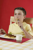 Child eating food Royalty Free Stock Photo