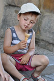 Child eating ice cream Stock Photography