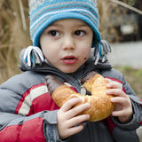 Child eating snack Royalty Free Stock Photo