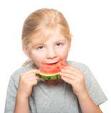 Child eating watermelon 3 Royalty Free Stock Photography