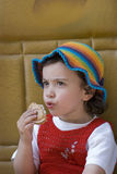 Child eats Royalty Free Stock Image