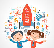 Child and education icons Royalty Free Stock Photos