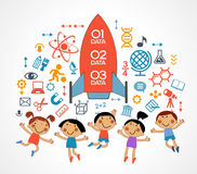 Child and education icons Royalty Free Stock Photography