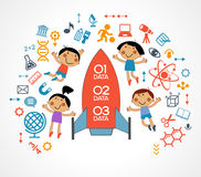 Child and education icons Royalty Free Stock Images