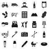 Child education icons set, simple style Stock Images