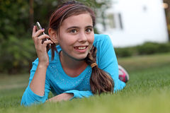 Child with electronic device Stock Photography