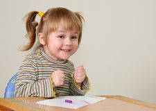Child emotion. Emotion of young cute girl Stock Image