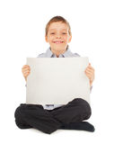 Child with empty blank Royalty Free Stock Image