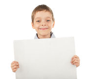 Child with empty blank Stock Photos