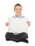 Child with empty blank Stock Image
