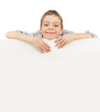 Child with empty blank Stock Images