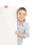 Child with empty blank Royalty Free Stock Photos