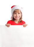 Child with empty blank Royalty Free Stock Photo