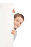 Child with empty blank Royalty Free Stock Photography