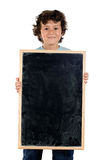 Child with empty slate to put words Royalty Free Stock Photo