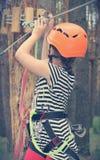 Child engaged  extreme sports Stock Images