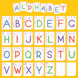 Child English alphabet illustration Stock Photos