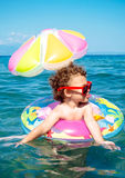 Child enjoy in the summer time Royalty Free Stock Images