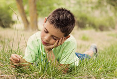 Child enjoying the nature Stock Photos