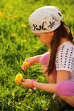 Child enjoying Spring sunny day Stock Image