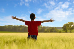 Child enjoying the sun Royalty Free Stock Photography