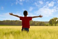 Child enjoying the sun Royalty Free Stock Photography