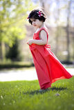 Child enjoying sunny day Royalty Free Stock Photos