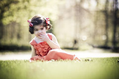 Child enjoying sunny day Royalty Free Stock Images