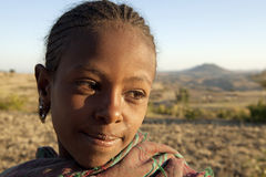 A child, Ethiopia. A portrait of a young girl, Ethiopia Stock Image