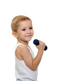 Child exercising Stock Photo