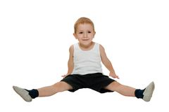 Child exercising Stock Image