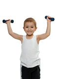 Child exercising Stock Images