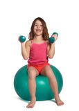 Child exercising Royalty Free Stock Image