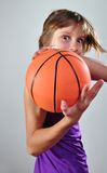 Child exercising with ball Royalty Free Stock Photos