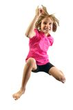Child exercising and jumping Stock Photo