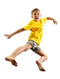 Child exercising and jumping Royalty Free Stock Image