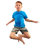 Child exercising and jumping Royalty Free Stock Images