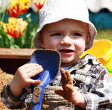 Child exploring Stock Photo