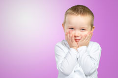 Child expressing surprise Stock Photos