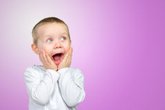 Child expressing surprise Stock Photography