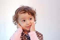 Child expression. Child face show some emotions Royalty Free Stock Image