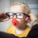 Child with eyeglasses Royalty Free Stock Images